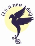 It's a New Day logo, a bird with a treble clef as its tail