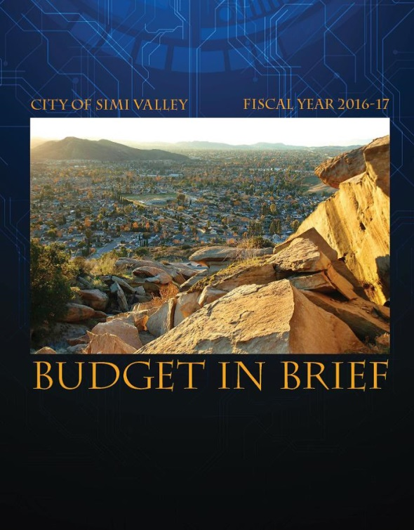 FY 16-17 Budget in Brief Cover Page
