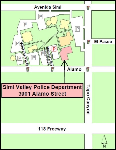 Map to Police Department
