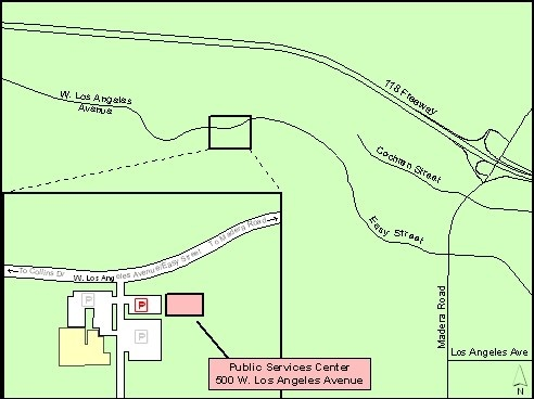 Map to Public Services Center