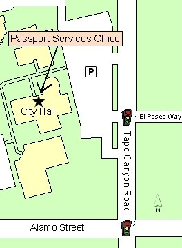 Map to Passport Office