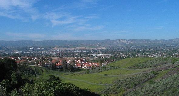 Scenic view overlooking Simi Valley