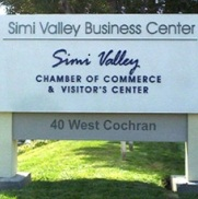 Chamber of Commerce Sign Simi Valley Business Center; Simi Valley; Chamber of Commerce  and visitors center; 40 west cochran