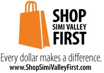 Shop Simi Valley First Logo; every dollar makes a difference; www.shopsimivalleyfirst.com