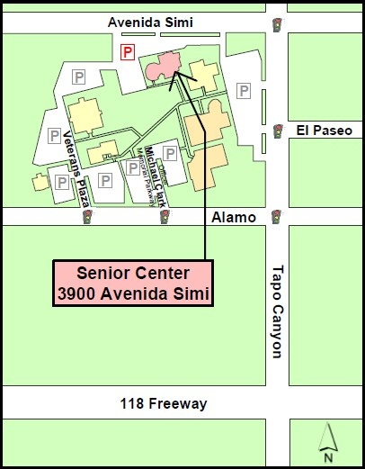 Map to Senior Center