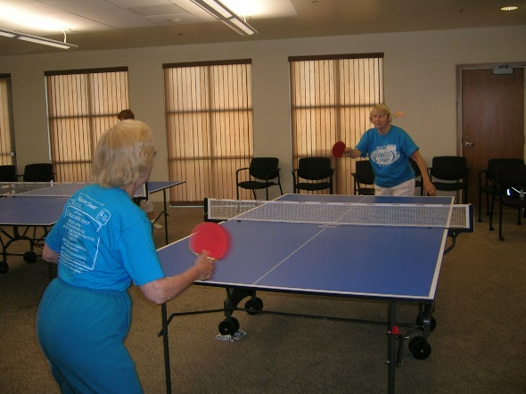 Senior Center 50+ Community Games Ping Pong