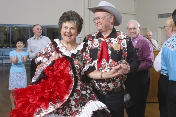 Square Dancing at the Senior Center